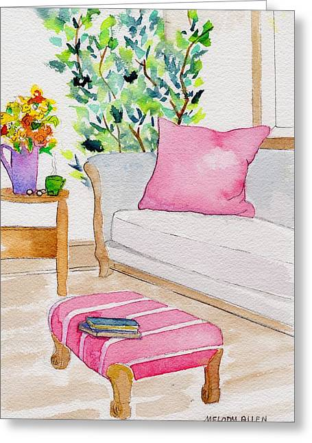 Foot Stool Greeting Cards - Empty Chair Series 3 Greeting Card by Melody Allen