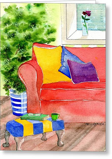 Foot Stool Greeting Cards - Empty Chair Series 4 Greeting Card by Melody Allen