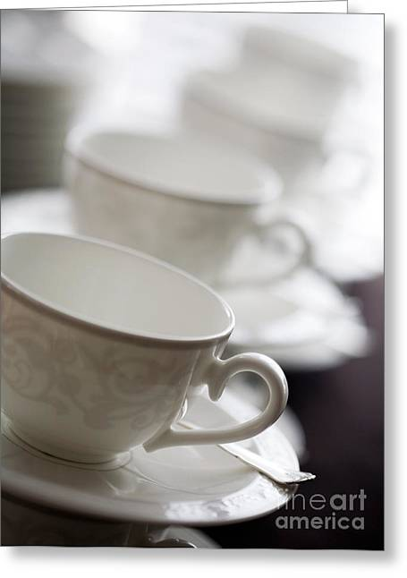 Tea Party Greeting Cards - Empty cups Greeting Card by Kati Molin