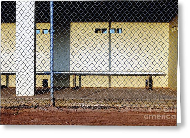 Pasttime Greeting Cards - Empty Dugout Greeting Card by Skip Nall