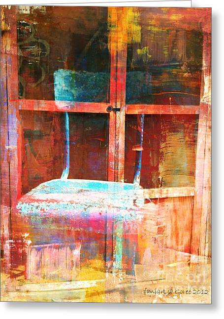 Destiny Mixed Media Greeting Cards - Empty  Greeting Card by Fania Simon