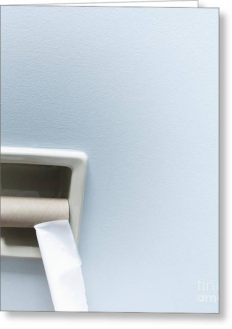 Cardboard Greeting Cards - Empty Roll of Toilet Paper Greeting Card by Marlene Ford