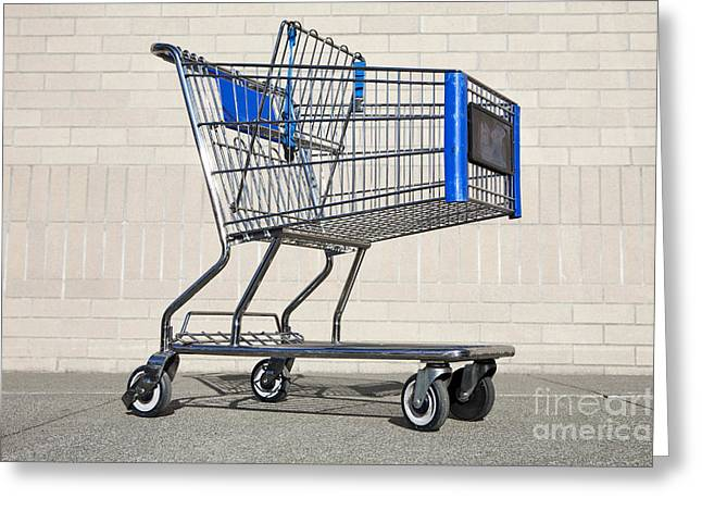 Grocery Store Greeting Cards - Empty Shopping Cart Greeting Card by Paul Edmondson
