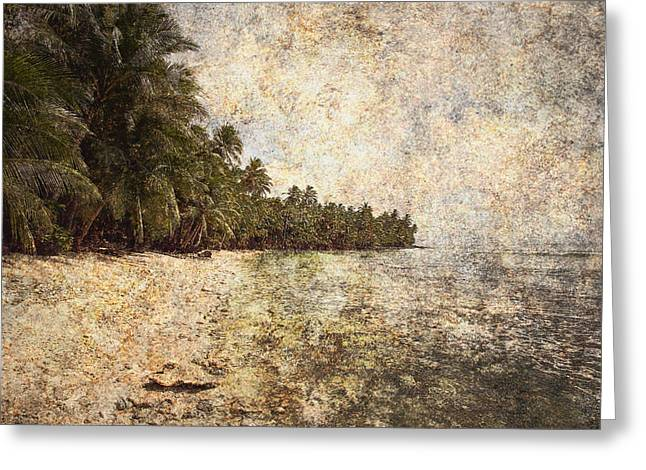 Surfing Art Greeting Cards - Empty Tropical Beach 2 Greeting Card by Skip Nall