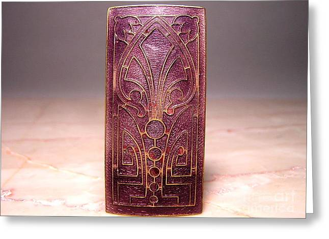 Art Nouveau Jewelry Greeting Cards - Enamels 102 Greeting Card by Dwight Goss