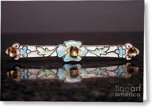 Victorian Jewelry Greeting Cards - Enamels 21 Greeting Card by Dwight Goss
