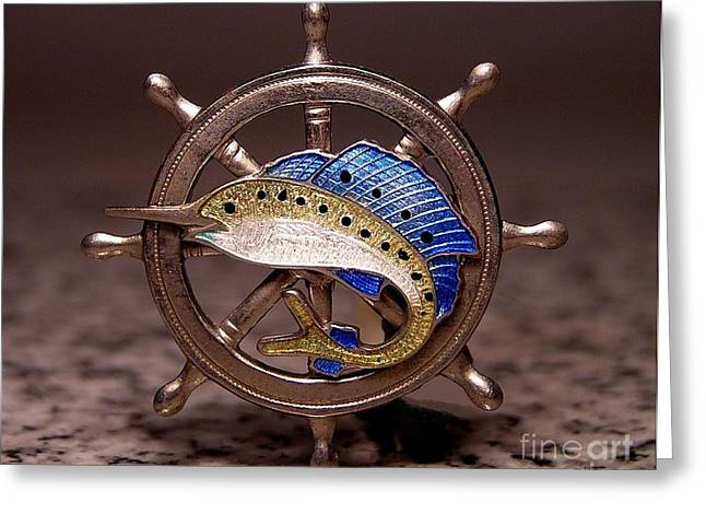Fishing Boats Jewelry Greeting Cards - Enamels 38 Greeting Card by Dwight Goss