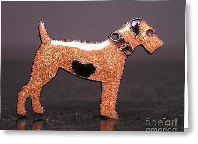 Dogs Jewelry Greeting Cards - Enamels 48f Greeting Card by Dwight Goss