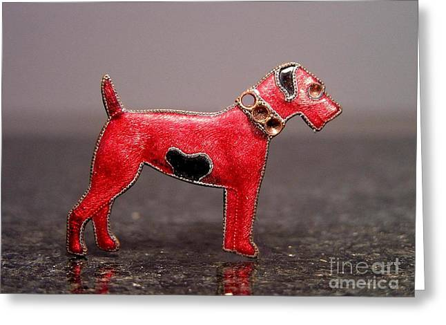 Dogs Jewelry Greeting Cards - Enamels 48i Greeting Card by Dwight Goss