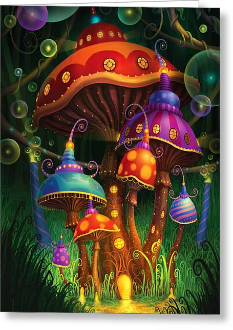 Wonderland Greeting Cards - Enchanted Evening Greeting Card by Philip Straub