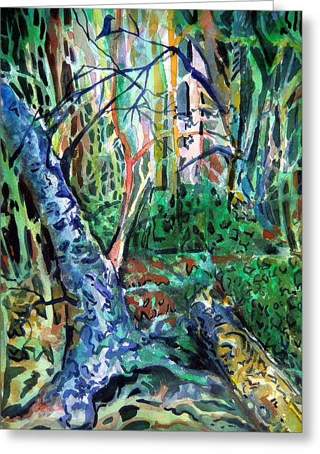Walk Paths Greeting Cards - Enchanted Forest Greeting Card by Mindy Newman