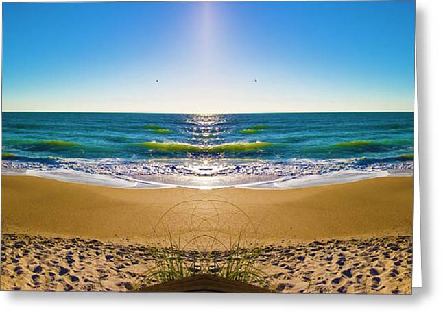 Topsail Island Greeting Cards - Enchanted Mirror Greeting Card by Betsy A  Cutler