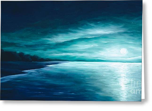 Moonscape Greeting Cards - Enchanted Moon I Greeting Card by James Christopher Hill