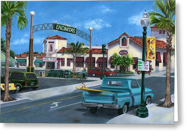 Encinitas Dreaming Greeting Card by LISA REINHARDT