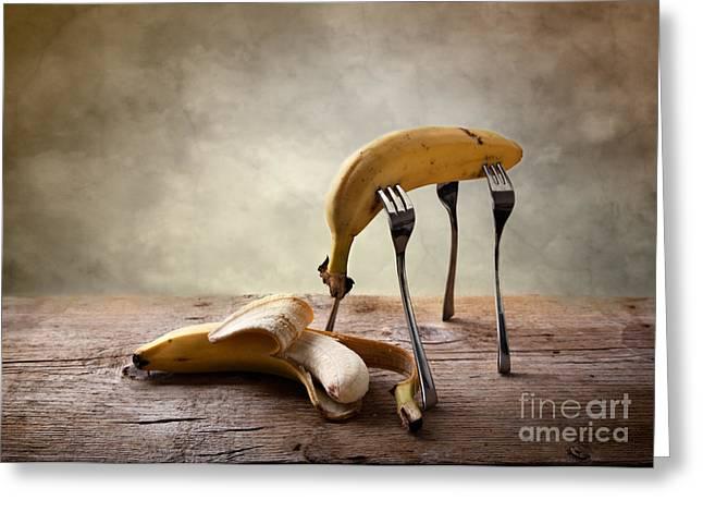 Banana Greeting Cards - Encounter Greeting Card by Nailia Schwarz