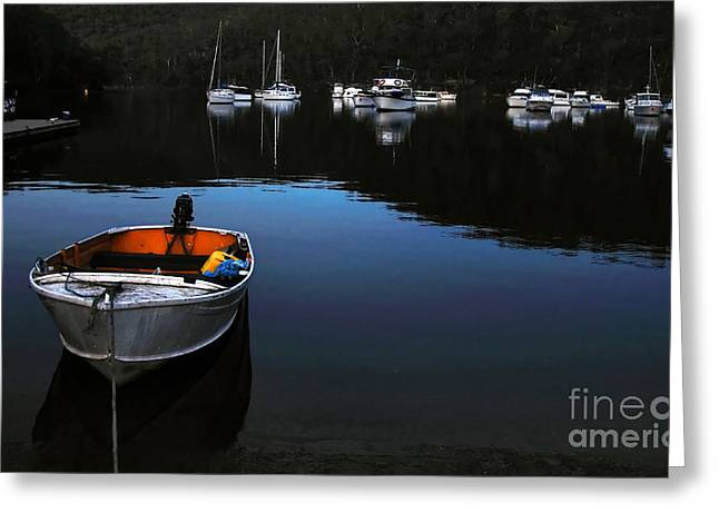 Peaceful Scene Greeting Cards - End of a Beautiful Day Greeting Card by Kaye Menner