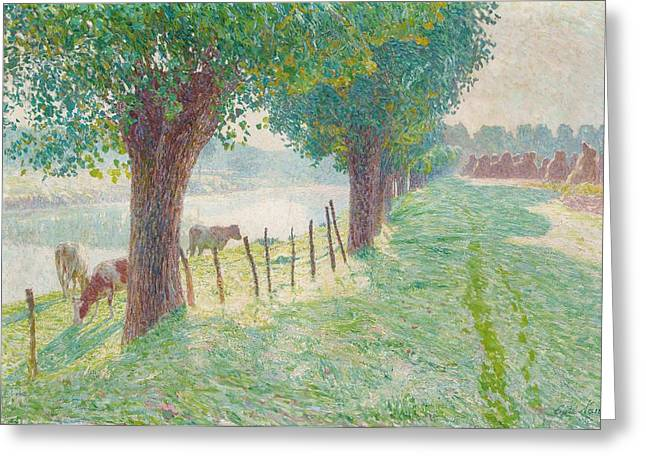 End Greeting Cards - End of August Greeting Card by Emile Claus