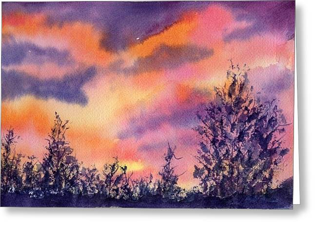 Organe Greeting Cards - End of Day Greeting Card by BJ Clausen