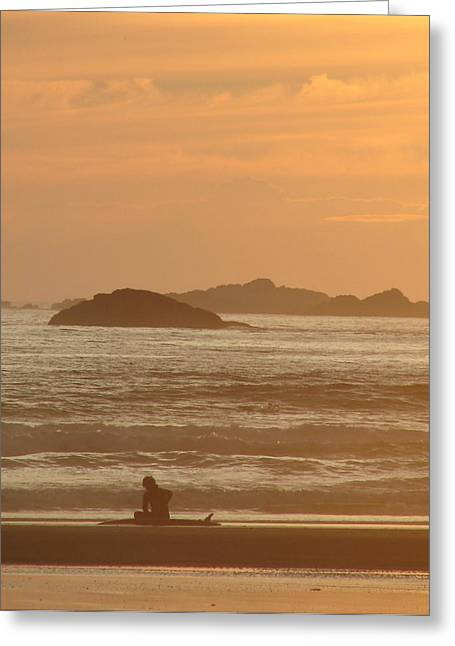 Californian Greeting Cards - End of Day Greeting Card by Ramona Johnston
