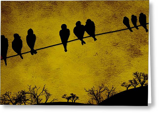 Oak Hill Greeting Cards - End of the Day Greeting Card by Bonnie Bruno