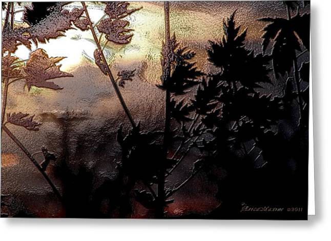 Tn Digital Art Greeting Cards - End of the Day Greeting Card by EricaMaxine  Price