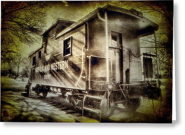 Caboose Photographs Greeting Cards - End of the Line II Greeting Card by Steven Ainsworth