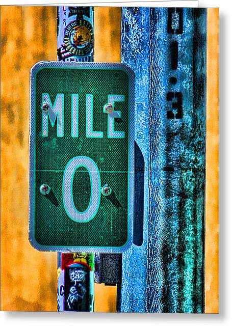 Key West Greeting Cards - End of the Line Greeting Card by Joetta West