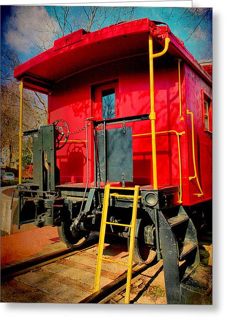 Caboose Photographs Greeting Cards - End of the Line Greeting Card by Steven Ainsworth