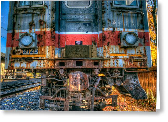 Abandoned Train Greeting Cards - End of the Line Greeting Card by William Jobes
