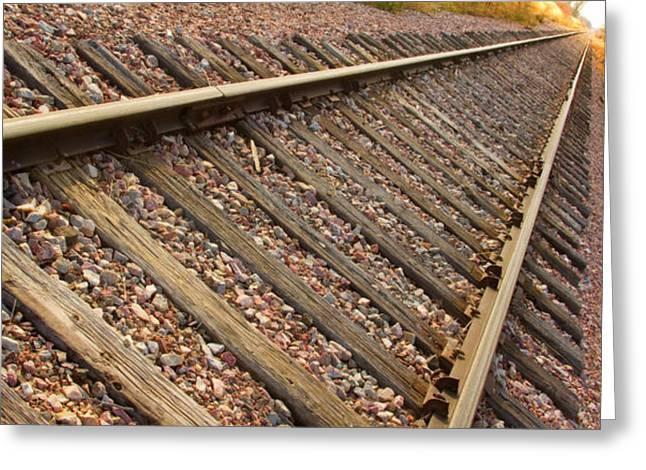 Railroads Framed Prints Greeting Cards - End of the Tracks Greeting Card by James BO  Insogna