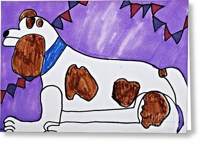 Collar Drawings Greeting Cards - Endearing Friend Greeting Card by Stephanie Ward
