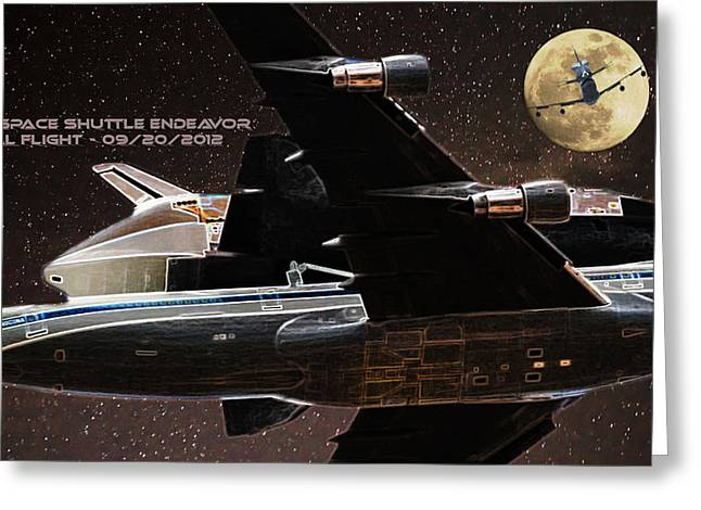 Gabby Giffords Greeting Cards - Endeavor - Final Flight Greeting Card by Andreas Hohl