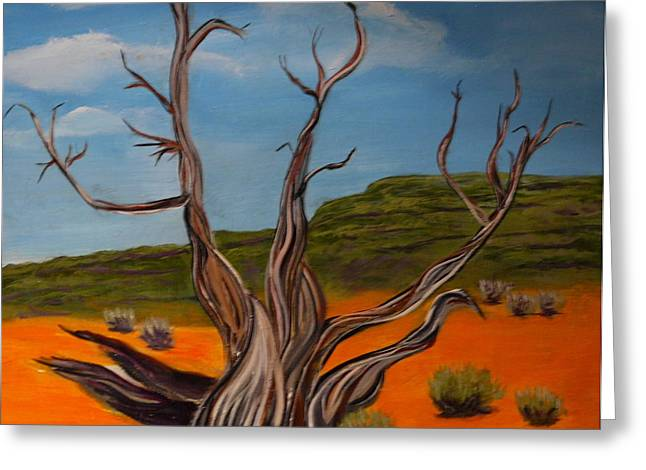Gnarly Paintings Greeting Cards - Endurance Greeting Card by Mark Malone