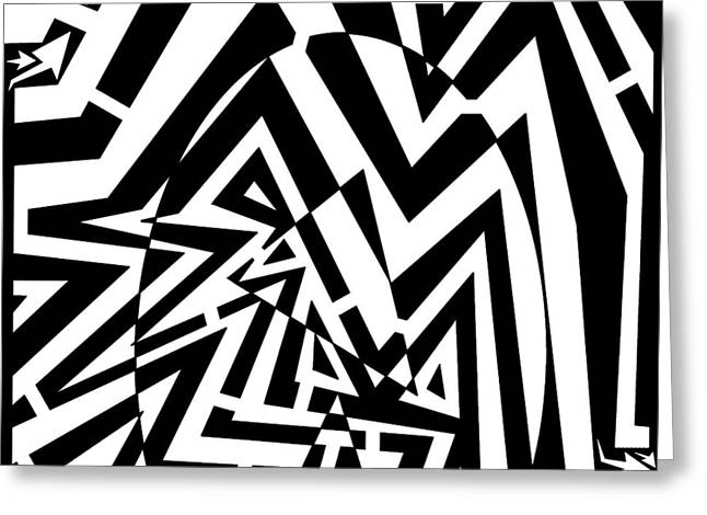 Maze Drawings Greeting Cards - Energetic Egg Maze Greeting Card by Yonatan Frimer Maze Artist