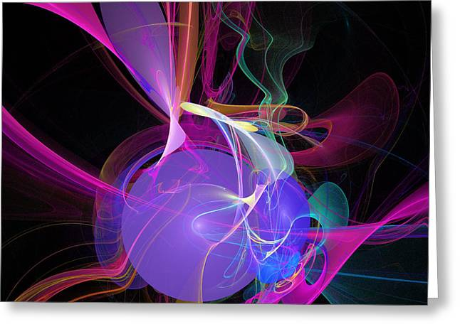 Energetic Orb Greeting Card by Ricky Barnard
