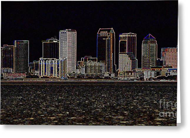 Energize Greeting Cards - Energized Tampa - Digital Art Greeting Card by Carol Groenen