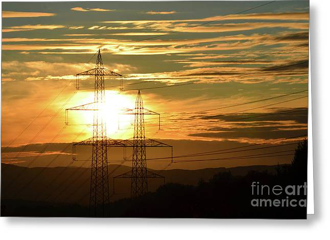 Completely Greeting Cards - Energy 1 Greeting Card by Bruno Santoro