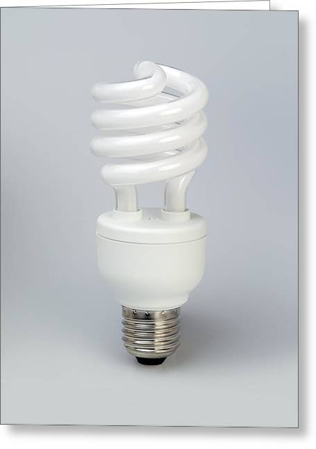 Energy Efficient Greeting Cards - Energy Efficient Light Bulb Greeting Card by Paul Rapson