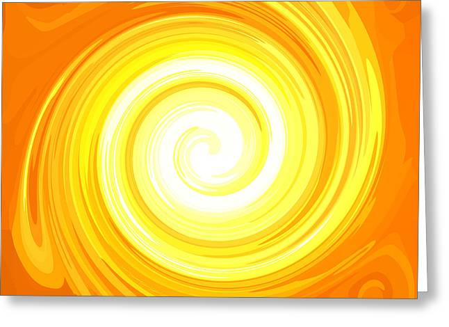 Svadhisthana Greeting Cards - TOP Energy-Spiral No. 02 Greeting Card by Ramon Labusch