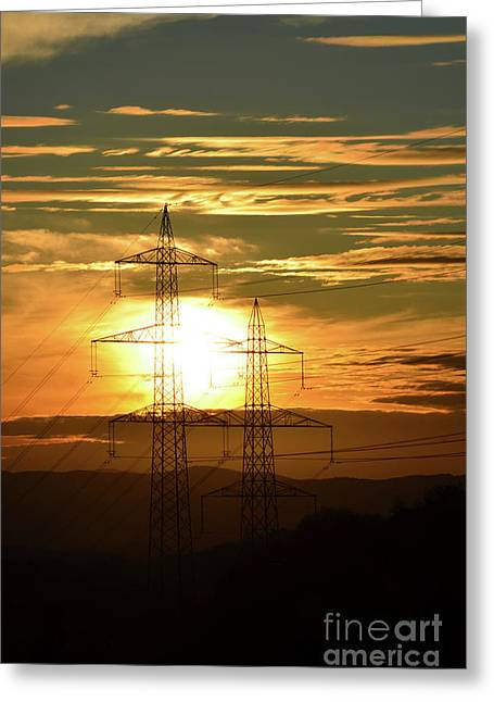 Completely Greeting Cards - Energy3 Greeting Card by Bruno Santoro
