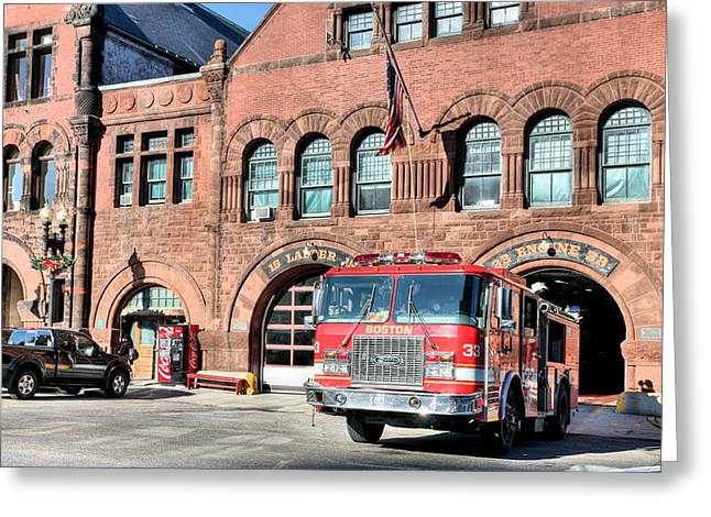 Engine 33 Greeting Card by JC Findley