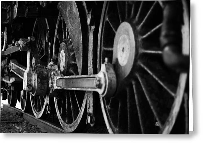 Locomotive Wheels Greeting Cards - Engine 470 Greeting Card by Chad Tracy