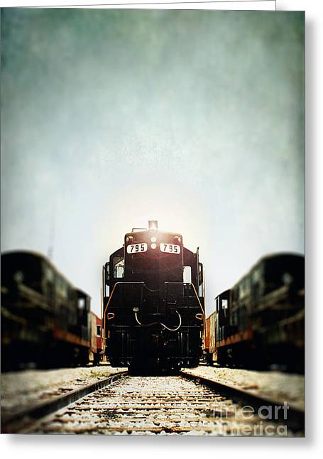 Engine795 Greeting Card by Stephanie Frey