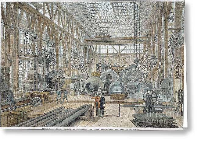 Mechanization Greeting Cards - England: Factory, 1865 Greeting Card by Granger