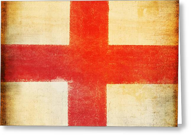 Flags Flying Greeting Cards - England flag Greeting Card by Setsiri Silapasuwanchai