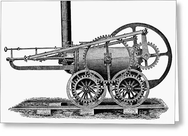 Trevithick Greeting Cards - England: Locomotive, 1804 Greeting Card by Granger