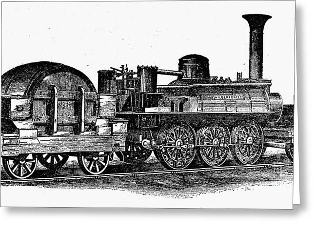 Wilberforce Greeting Cards - ENGLAND: LOCOMOTIVE, c1831 Greeting Card by Granger