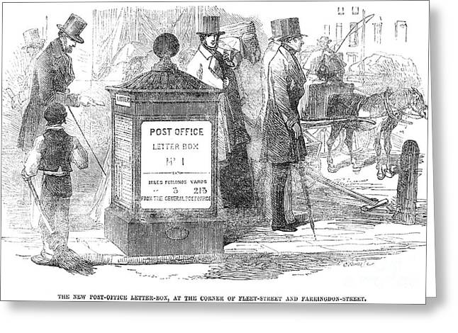 Daily Mail Greeting Cards - England: Mailbox, 1855 Greeting Card by Granger