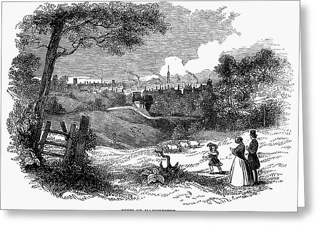 1842 Photographs Greeting Cards - England: Manchester, 1842 Greeting Card by Granger