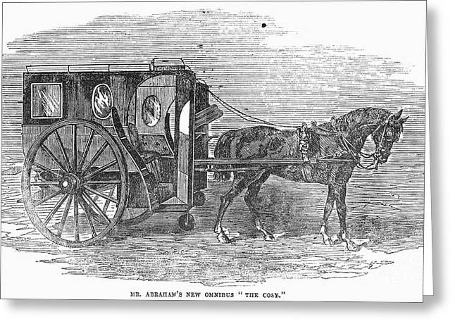 Omnibus Greeting Cards - England: Omnibus, 1856 Greeting Card by Granger